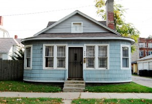 A blue house managed by an property management Chicago company